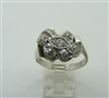 Vintage 14 k White Gold Art Deco Ring