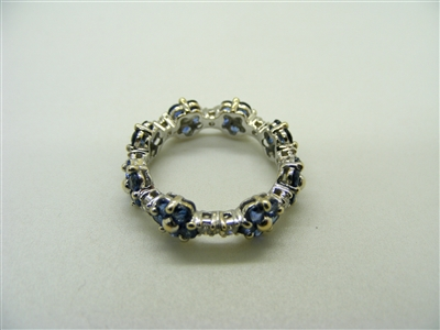 Eternity Blue Tanzanite Ring