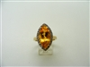 Gold Topaz Marquise Ring