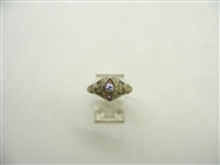 Art deco 20 Points Ring