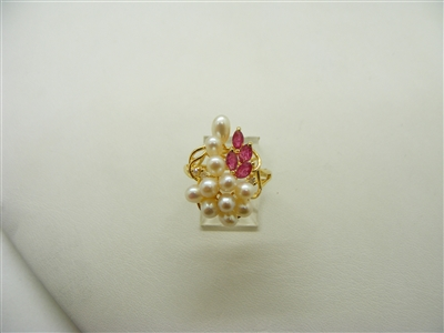 Pearl Ruby Ring