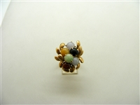 Multicolor Jade Ring