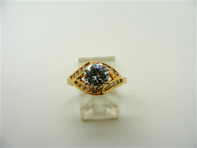 1.47 Carats 6 Prongs Engagement Ring