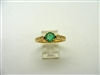 Round Colombian Emerald Ring