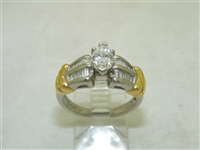 90 Points Two Tone Engagement Ring