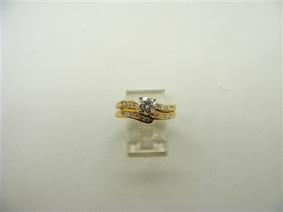 95 Points 4 Prong Dual Engagement Ring