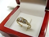 Ladies Vintage Diamond 14k White Gold Ring