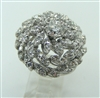 LADIES VINTAGE DIAMOND CLUSTERED COCKTAIL RING