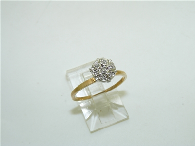 10k Yellow Gold & White Gold Diamond Ring