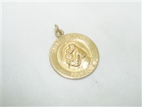 Small Saint Anthony Yellow Gold Medal Pendant