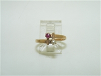 Gorgeous Vintage Ruby & Pearl Ring