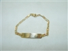 Multi Gold color ID bracelet