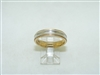 14k Multi tone Gold Wedding band