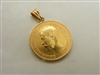 22k Yellow Gold 1900 Russian Coin pendant 10 Rubles