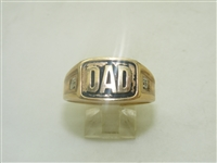 "10k Yellow Gold Diamond ""Dad"" Ring"
