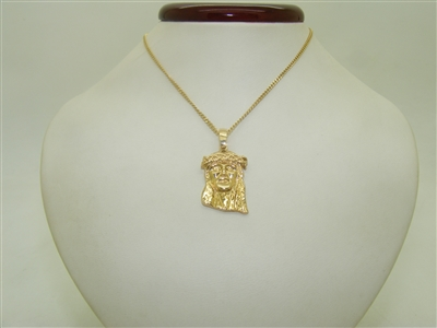 10k Yellow Gold Jesus Christ Necklace/Pendant