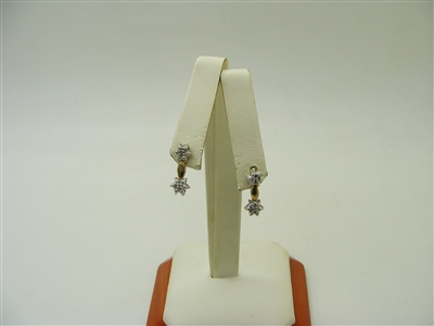 10K Two-Tone Diamond Earrings