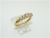 Anniversary 14k Yellow Gold Diamond Ring
