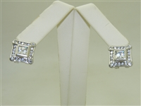 10k White gold Cubic Zircon Earrings