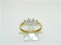 14k Yellow & White Gold Anniversary Diamond Ring