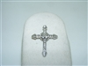 10K White Gold Diamond Cross