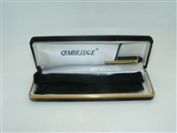 Gold Cambridge Pen with boxing