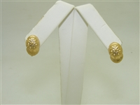 14k Yellow Gold Hat Earring
