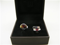 Alfred Dunhill Red Indicator Sterling Silver Cufflinks