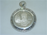 Unique John F. Kennedy Medal Pendant With CZ stones