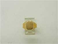 18K Yellow Gold Ladies & Young Men Ring