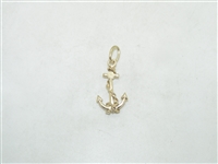 10k Yellow Gold Anchor Pendant