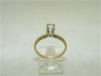 10k multi tone Gold Solitary Engagement Diamond Ring