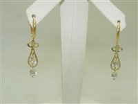 14k Yellow gold Hanging Earring