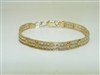 10k Yellow Gold Cubic Zircon Children's Bracelet