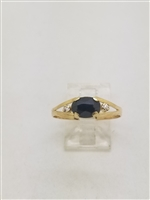 Beautiful Natural Onyx 18k Yellow Gold Ring