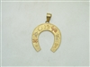 Multi Gold Tone Lucky Horseshoe Pendant