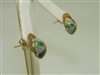 Vintage Polo Cap Yellow Gold Earrings