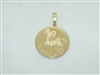 14k Yellow Gold Aries Pendant