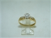 Diamond 18k Yellow Gold Engagement ring