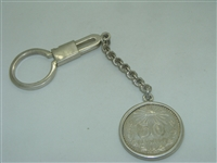 Mexican Silver Coin keychain