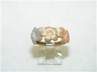Multi Toned Gold Flower Ring