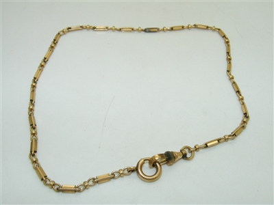 Vintage 12k Yellow Gold Filled Pocket Watch Chain