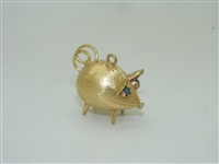 Beautiful Vintage 18k Yellow gold Piggy Charm