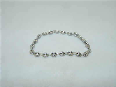 14k White gold Fancy Chain Bracelet
