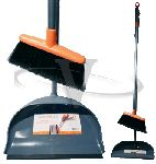 Casabella Upright Sweep Set Graphite & Orange