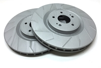 FRONT PAIR - Slotted Rotors With Gray ZRC