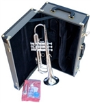 Sonare professional silver trumpet, Trumpet, brass, music education, free music lesson, high school band, music major, berklee, rock and roll, jazz, blues, after school music, orchestra,  peterborough music