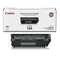 Canon 0263B001BA (104) OEM Black Toner Cartridge