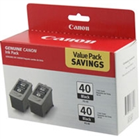 Canon 0615B013 OEM 2-Pack Pigment Black Ink Cartridge