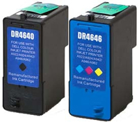 Dell M4640, M4646 Remanufactured Ink Cartridge Two Pack Value Bundle